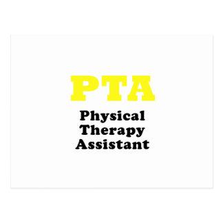 Ayudante de la terapia física de la Pta Tarjeta Postal
