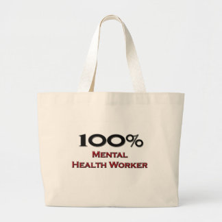 Ayudante de sanidad mental del 100 por ciento bolsa tela grande