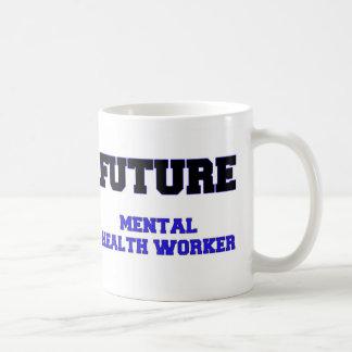Ayudante de sanidad mental futuro taza básica blanca