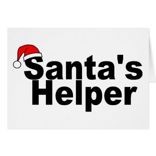 Ayudante de Santas Felicitación