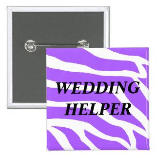 Ayudante del boda pin cuadrado