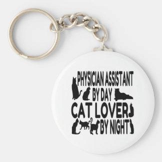 Ayudante del médico del amante del gato llaveros