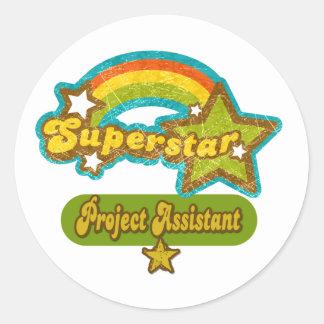 Ayudante del proyecto de la superestrella pegatina redonda