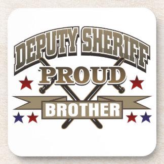 Ayudante del sheriff Brother orgulloso Posavasos