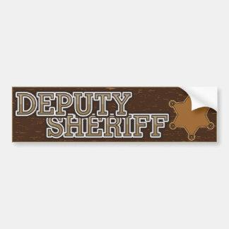 Ayudante del sheriff pegatina para auto