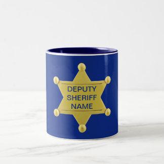 Ayudante del sheriff Custon Taza De Dos Tonos