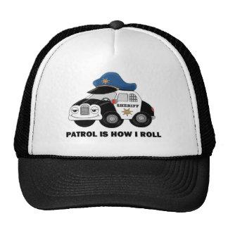 Ayudante del sheriff en patrulla gorras de camionero