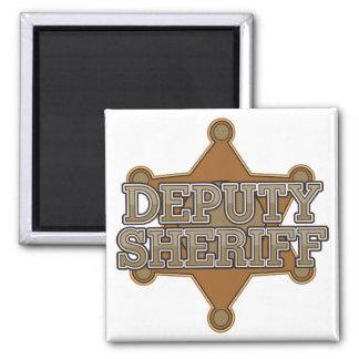 Ayudante del sheriff imán cuadrado