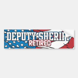 Ayudante del sheriff jubilado pegatina para auto