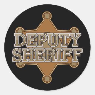 Ayudante del sheriff pegatina redonda