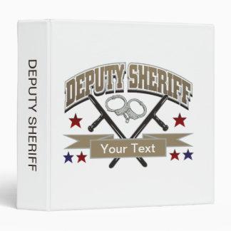 "Ayudante del sheriff personalizado carpeta 1 1/2"""