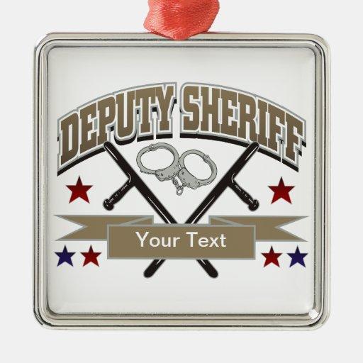 Ayudante del sheriff personalizado adorno