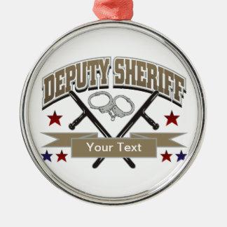 Ayudante del sheriff personalizado adorno para reyes