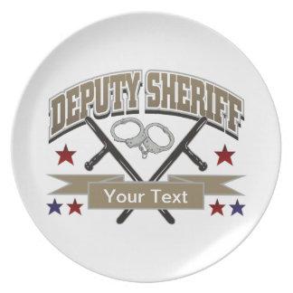 Ayudante del sheriff personalizado plato de comida