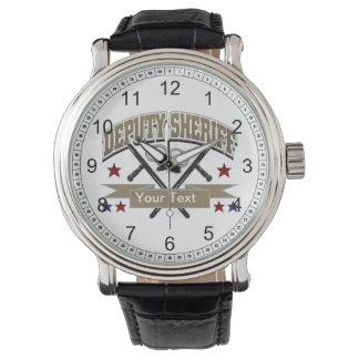 Ayudante del sheriff personalizado reloj de mano