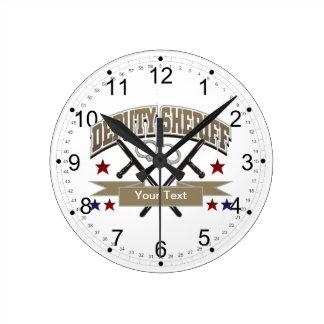 Ayudante del sheriff personalizado reloj de pared