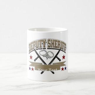 Ayudante del sheriff personalizado taza básica blanca