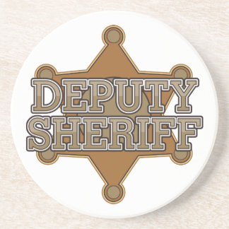 Ayudante del sheriff posavasos personalizados