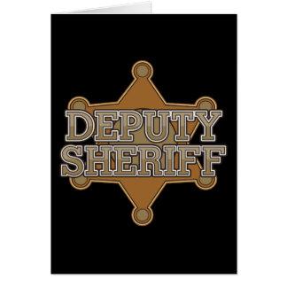 Ayudante del sheriff tarjeta de felicitación