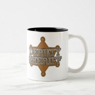Ayudante del sheriff taza dos tonos