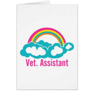 Ayudante del veterinario del arco iris tarjeta de felicitación