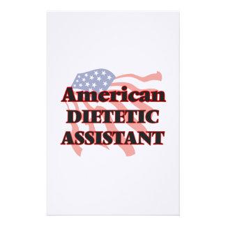 Ayudante dietético americano papelería personalizada