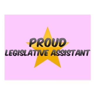 Ayudante legislativo orgulloso postal