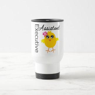 Ayudante lindo del ejecutivo del polluelo de la taza de viaje