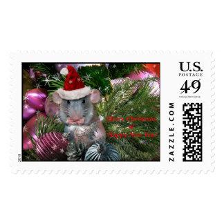 Ayudante más minúsculo de Santa el pequeño - Cu… - Timbre Postal