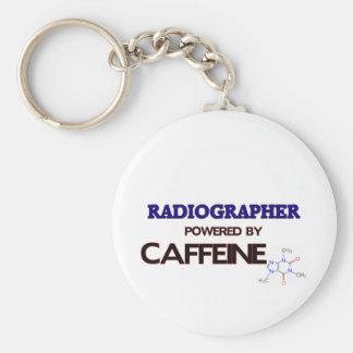Ayudante radiólogo accionado por el cafeína llavero redondo tipo pin
