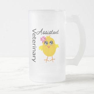 Ayudante veterinario taza cristal mate