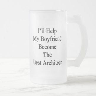 Ayudaré a mi novio a hacer el mejor arquitecto taza de cristal