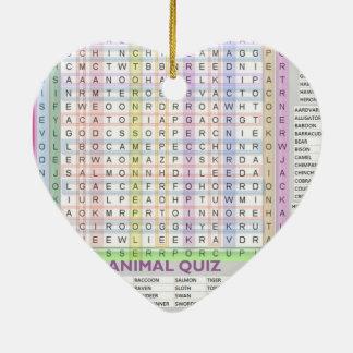 Ayudas a la ense6anza: Aprenda los nombres del Adorno De Cerámica En Forma De Corazón