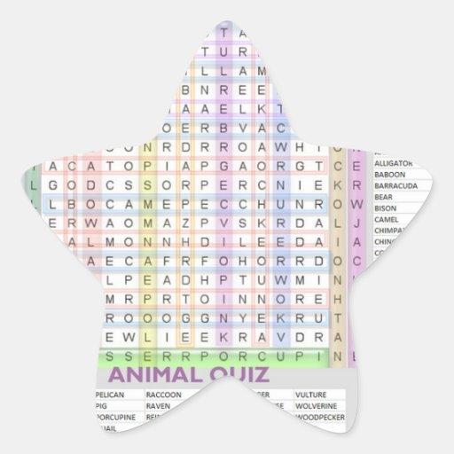 Ayudas a la ense6anza: Aprenda los nombres del Calcomanía Forma De Estrella Personalizada