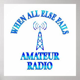 Ayudas aficionadas de la radio póster