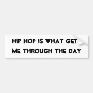 Ayudas de Hip Hop Etiqueta De Parachoque
