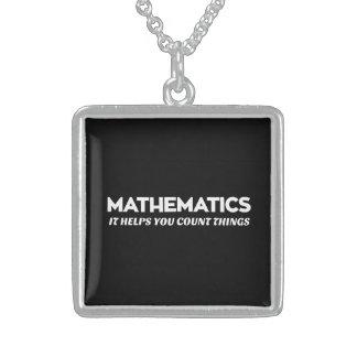 Ayudas de la matemáticas que usted cuenta colgante cuadrado