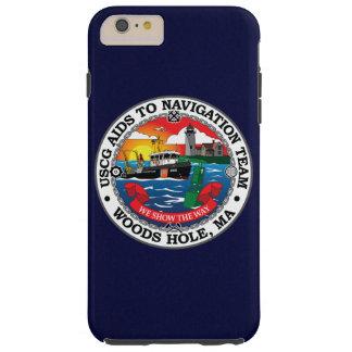 Ayudas de USCG a los azules marinos del agujero de Funda De iPhone 6 Plus Tough