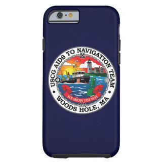 Ayudas de USCG a los azules marinos del agujero de Funda Para iPhone 6 Tough