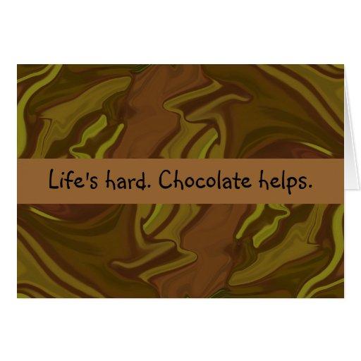 ayudas del chocolate felicitacion