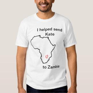 Ayudé a enviar a Kate a la camisa de Zambia