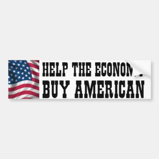 Ayude a la economía pegatina de parachoque
