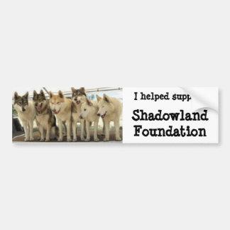 Ayudé a la fundación de Shadowland de la ayuda Pegatina Para Auto