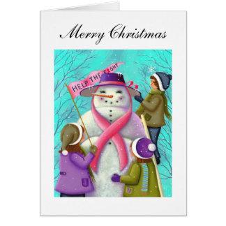 Ayude a la tarjeta de Navidad de la lucha