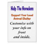 Ayude a la tarjeta sin hogar