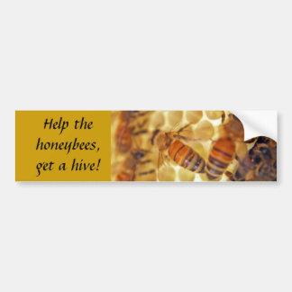¡Ayude a las abejas, consiga una colmena! Pegatina Para Auto