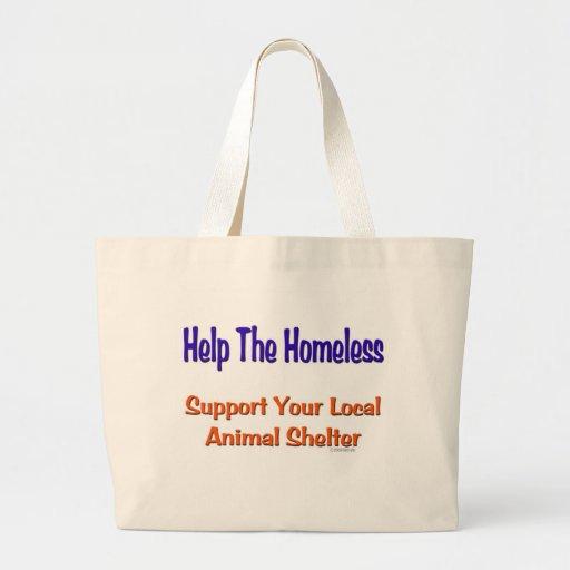 Ayude a los desamparados bolsa tela grande