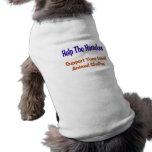 Ayude a los desamparados camisa de perrito