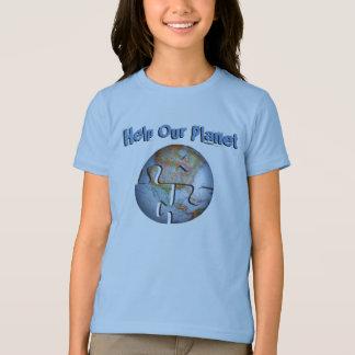 Ayude a nuestra camiseta del planeta