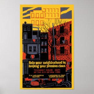 Ayude a su vecindad póster